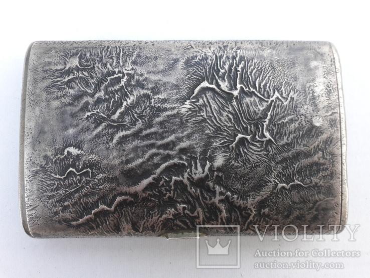 Серебрянный портсигар 88° «Самородок» (219 гр)