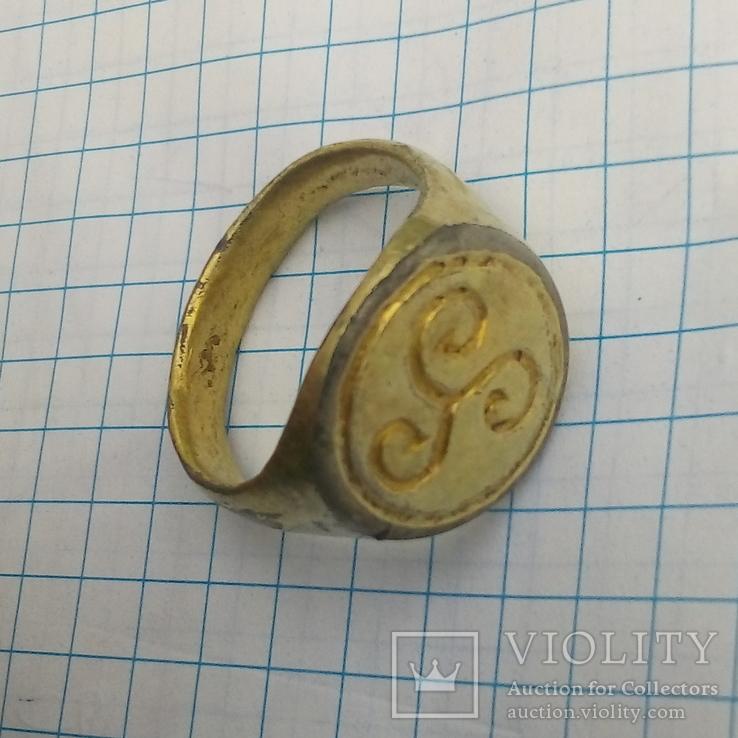 Перстень КР срібло в позолоті