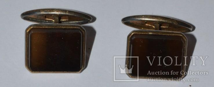 Запонки серебро камень ссср. 875