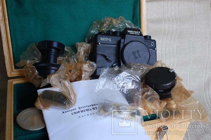 Фотоаппарат Зенит-Сюрприз МТ-1, № 844, первая тысяча, комплект 1984 г, фото №5