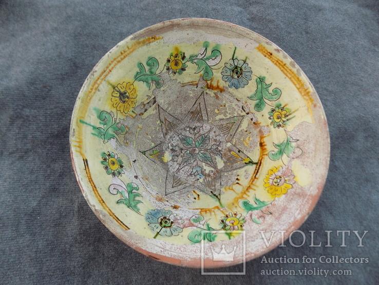 Велика глибока керамічна миска Ø34см Кути, фото №2