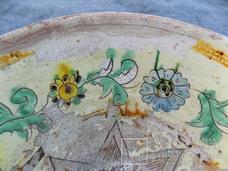 Велика глибока керамічна миска Ø34см Кути, фото №4