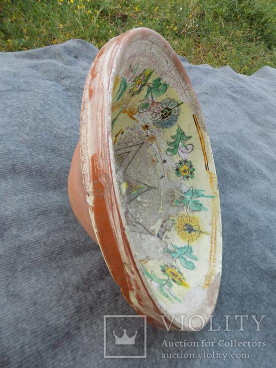 Велика глибока керамічна миска Ø34см Кути, фото №10