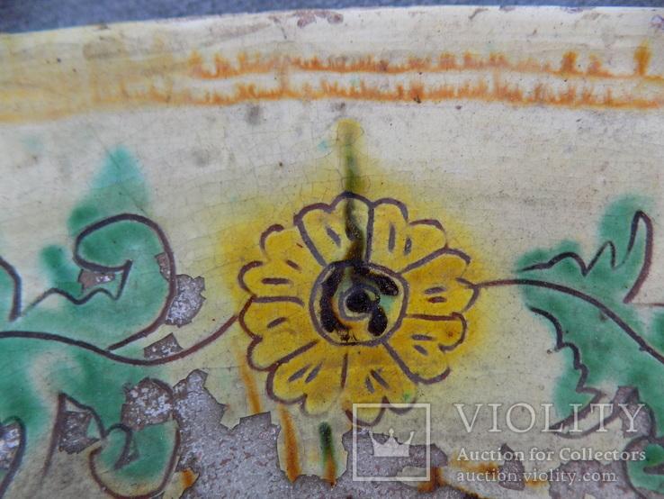 Велика глибока керамічна миска Ø34см Кути, фото №11
