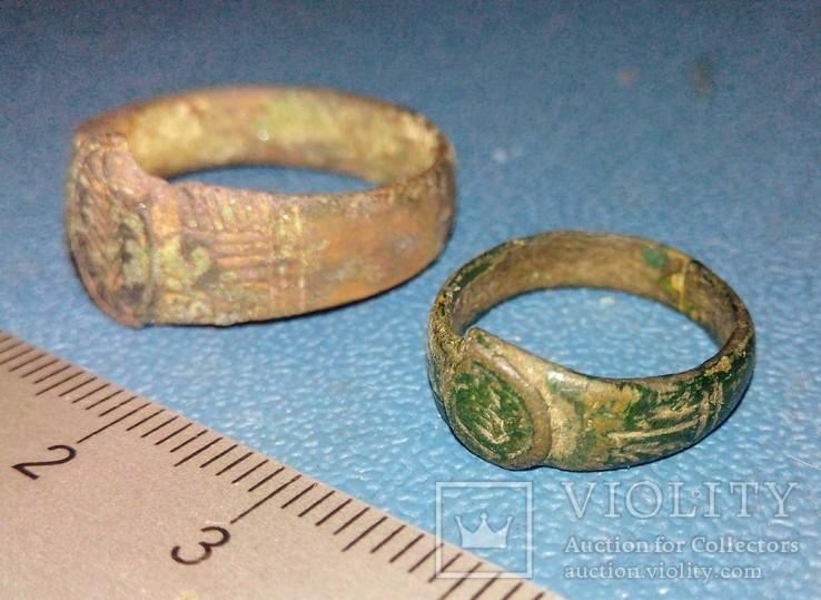 Два средневековых кольца-листики, фото №4