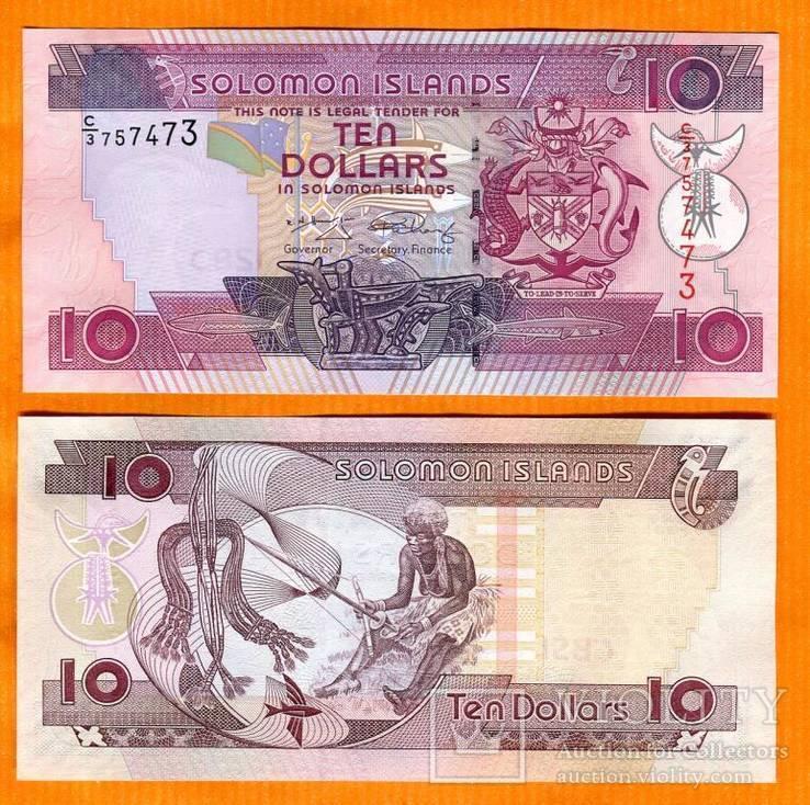 Соломоновы о-ва 10 долларов 2009 г.UNC