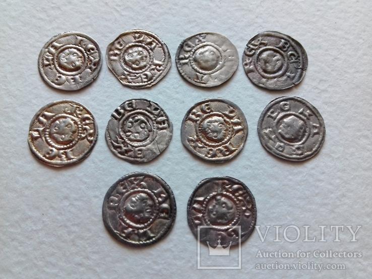 10х брактеатів Бели ІІІ 1172-1196 рр. Угорщина