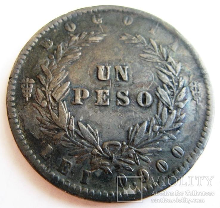 Колумбия, Конфедерация Новая Гранада, 1 песо 1859 - Богота
