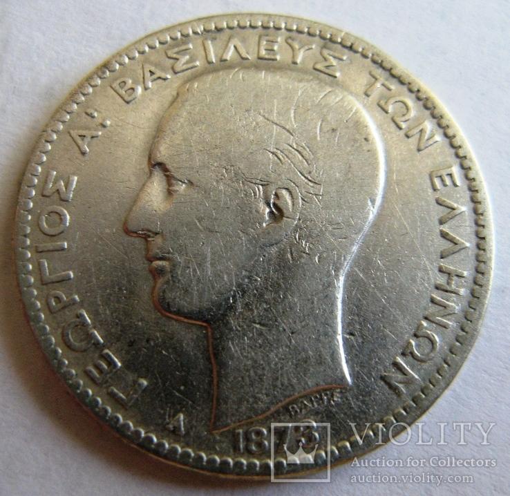 Греция, 1 драхма 1873
