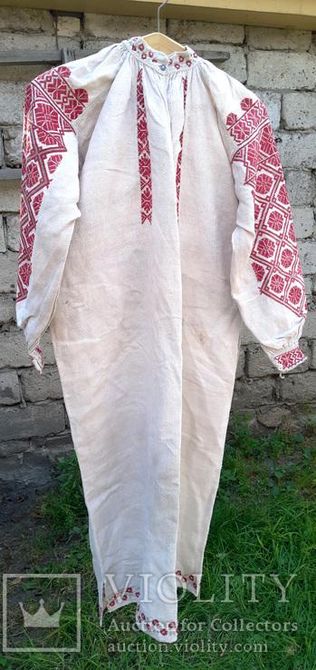 Старовинна поліська довга жіноча сорочка вишита хрестиком - «VIOLITY ... 938cfb111496b