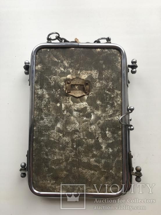 Старая раскладная фоторамка - зеркало, фото №5