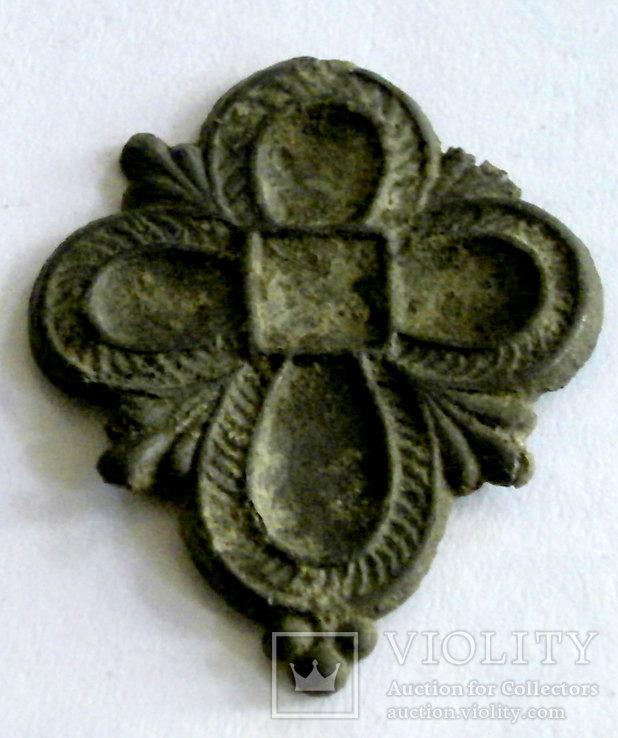 Крестовидная подвеска XVIII век , Разм. 22х28мм, Лот 3440, фото №2