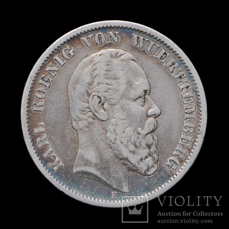 5 Марок 1876 Карл, Вюртемберг