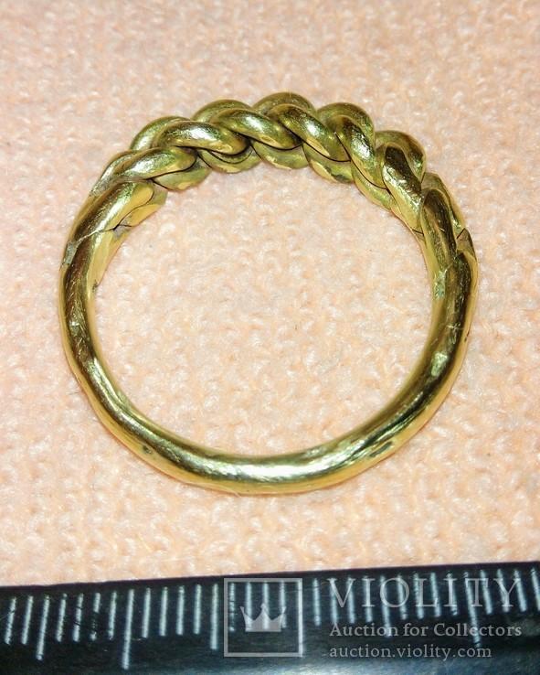 Реплика-Витой перстень времён Киевской Руси 10-12 век, фото №4