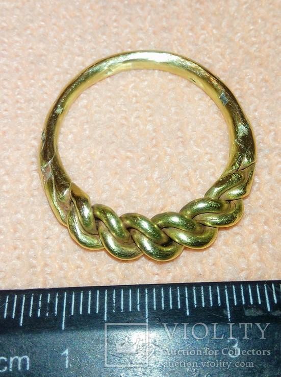 Реплика-Витой перстень времён Киевской Руси 10-12 век, фото №5