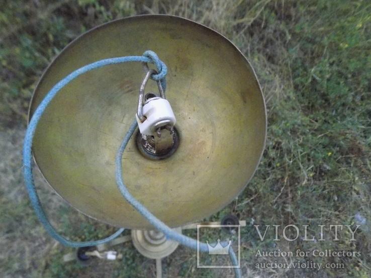 Латунна ел.люстра в стилі арт-деко, фото №4