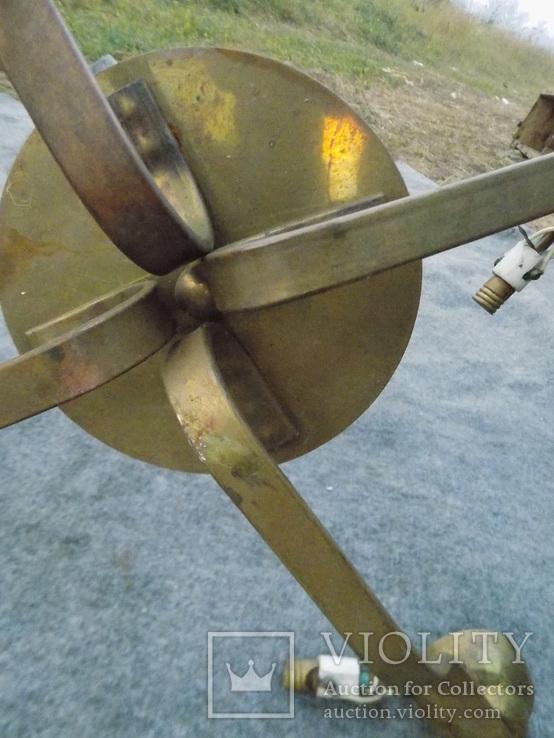 Латунна ел.люстра в стилі арт-деко, фото №5