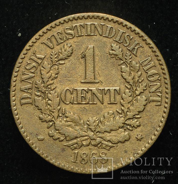 Датская Вест Индия 1 цент 1868