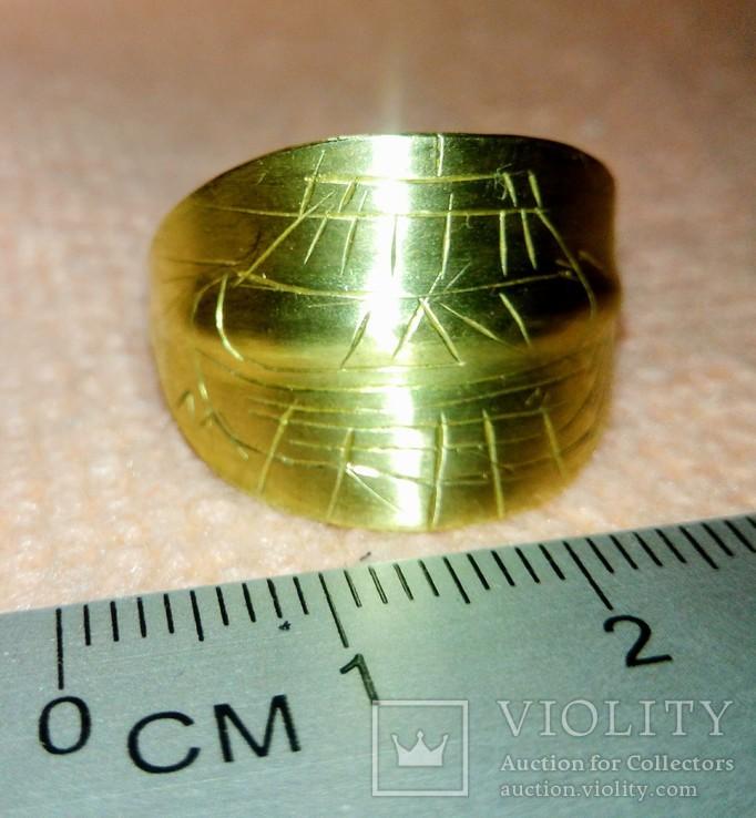 Реплика Пластинчатый перстень времён Киевской Руси 10-12 век, фото №2