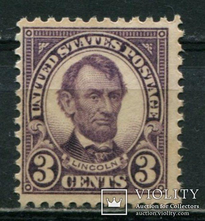 1923 США Абраам Линкольн 3 С перф 11Х11, фото №2