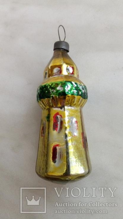 Елочная игрушка башня, фото №5