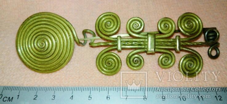 Реплика Фибула средний бронзовый век 1600-1200 до н.э., фото №2
