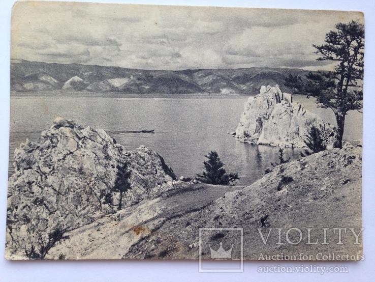 Открытка. Малое море с острова Ольхон. Байкал. Изогиз. 50-е. 40 тыс.экз., фото №3