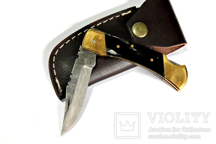 Складной нож. Дамаск.