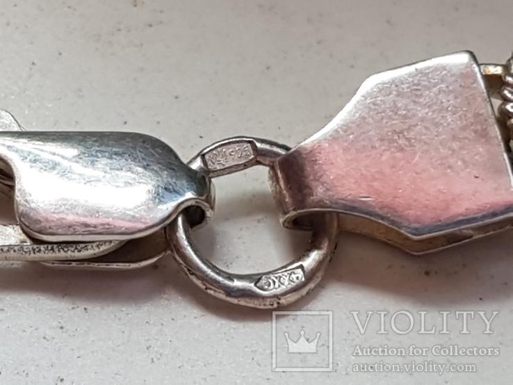 Цепочка 925 серебро + Браслет серебро 925 проба. Вес 48 г., фото №6