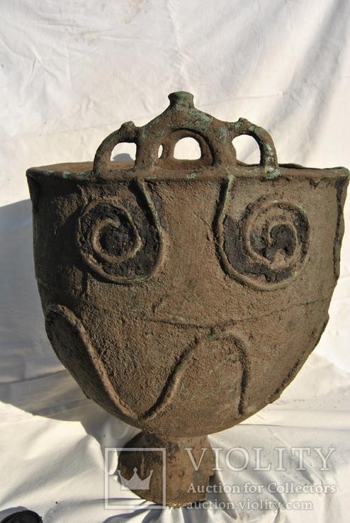 Орнаментированный литой котел, Савроматы или Скифы конец 6 начало 4 века до н.э