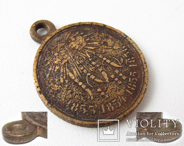 Медаль В память Крымской войны 1853-1856 год., фото №2