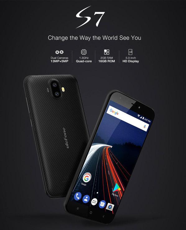 Ulefone S7 Pro BLACK 13Мп