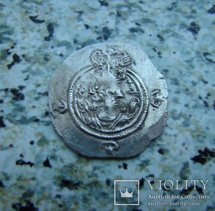 Сасаниды Иран Кхусро II 590-627 г.г. драхма Алтарь Огня