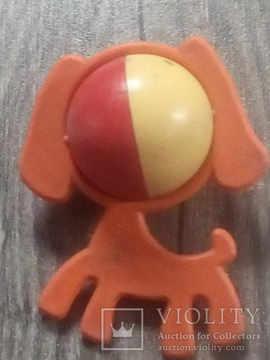 Погремушка собака СССР клеймо, фото №3