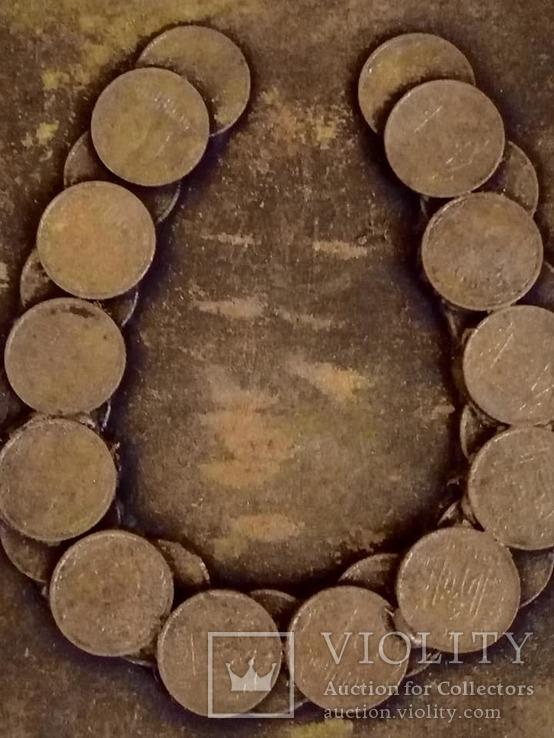 Картина из монет Подкова., фото №3