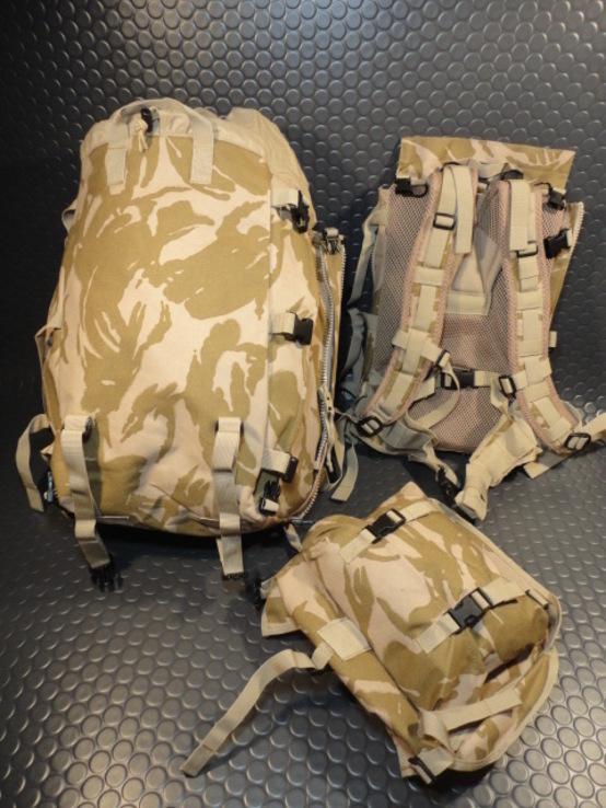 Модульный рюкзак армии Великобритании Bowman Manpack Radio Carrier Desert DPM 45 литров