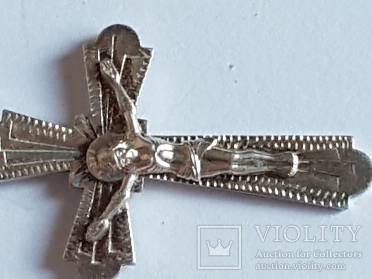 Крестик нательный серебро 925 проба., фото №3