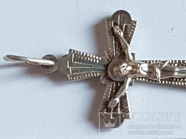 Крестик нательный серебро 925 проба., фото №4