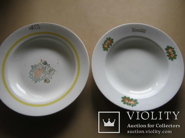 Две тарелки с праздничными датами СССР, фото №2