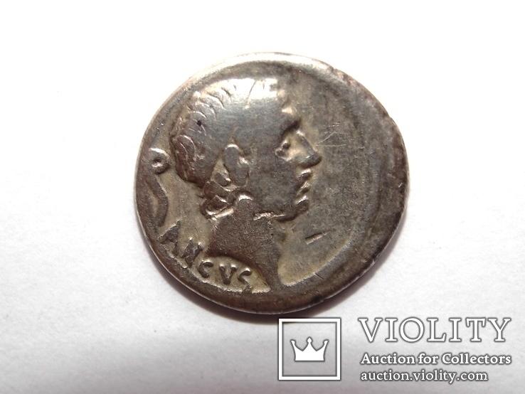Республиканский динарий Луций Марций Филипп 56д.н.э, фото №3