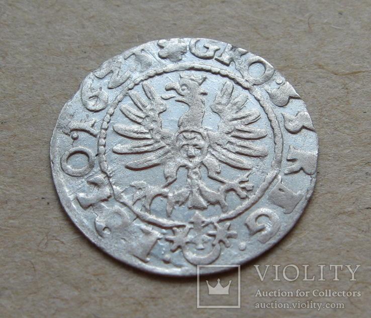 Коронный грош 1623 года. Сиг. ІІІ Ваза ( лот 2 ).
