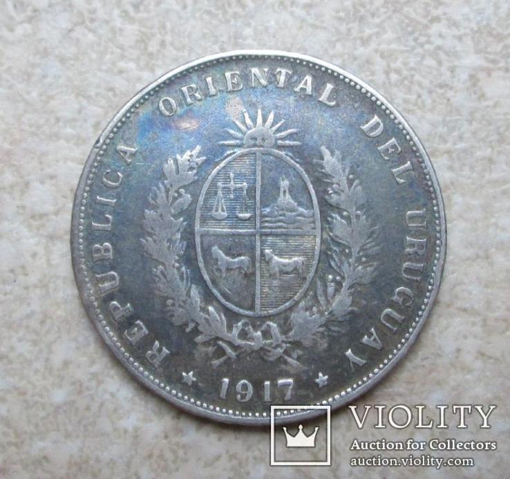 Уругвай 50 сентаво 1917 Серебро