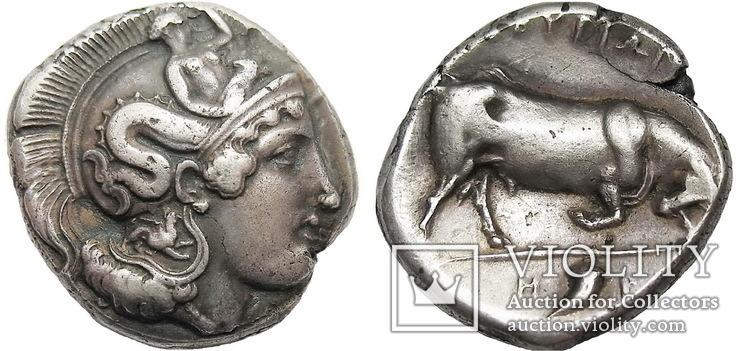 Двойной статер Лукания (350-300 г. до н.э.)