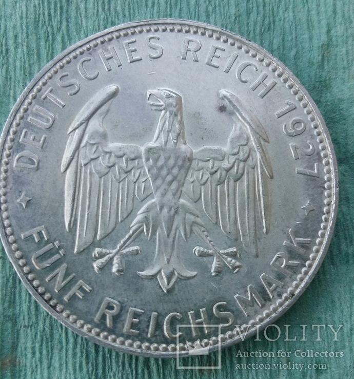 Германия, Веймарская респ. , Тюбинген, 5 марок 1927 г. RR, фото №3