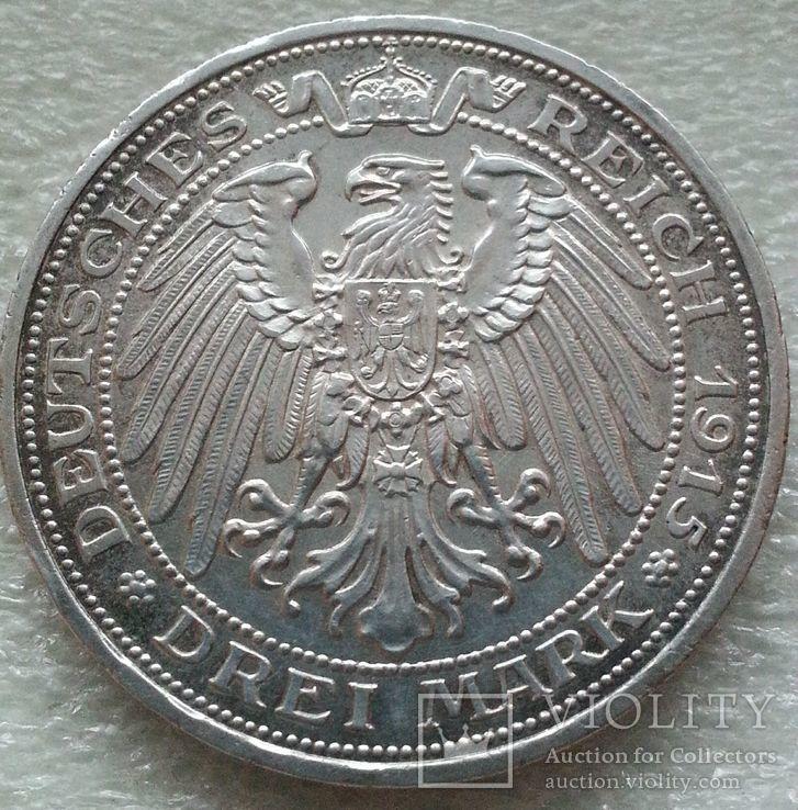 Пруссия Мансфельд 3 марки 1915 г., фото №3