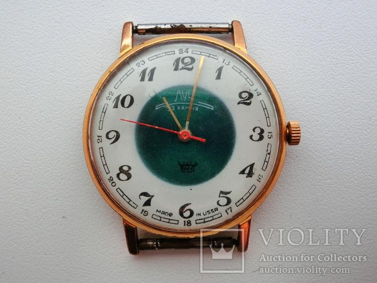 Часы Луч  Тонкие Позолота Ау-10+  На ходу.
