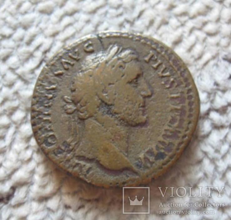 Антоний Пий сестерций 138-161 г.г н.э., фото №2