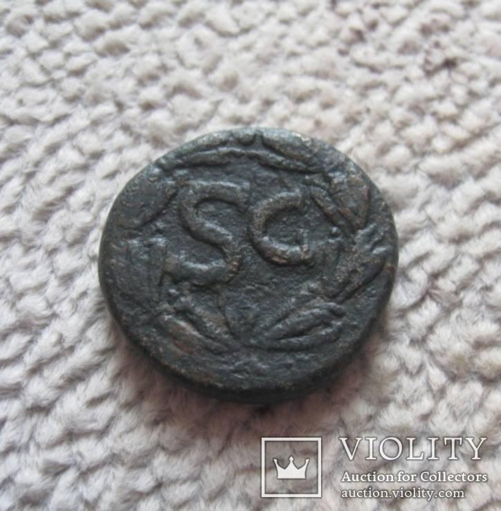 Асс император Домициан 81-96 г.г. н.э. - вес 16,1 грамм, фото №3