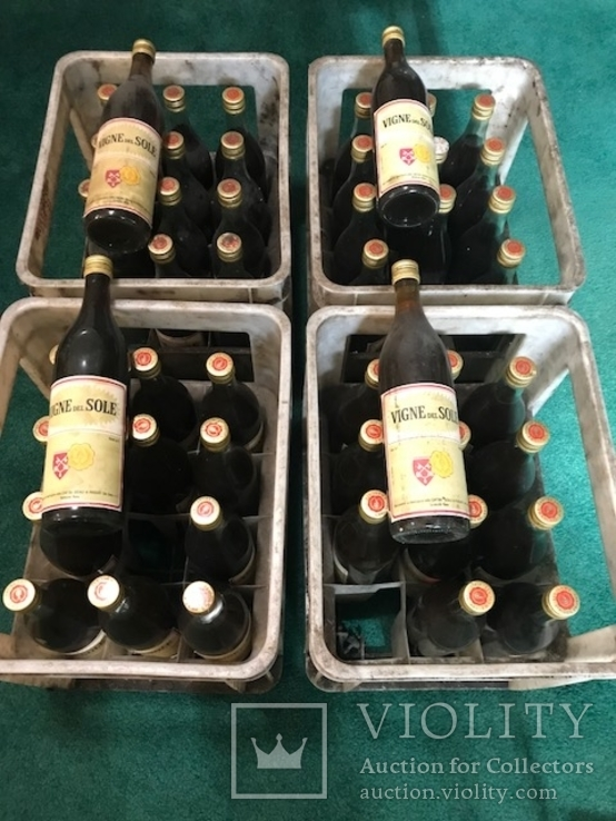 Вино Vigne del Sole 1974 г. Италия 48 бутылок