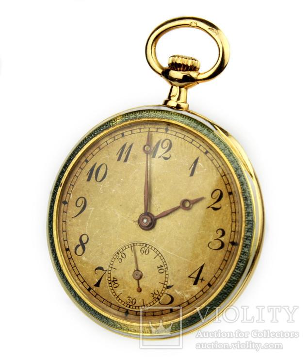 Золотые карманные часы. 18К. Винтаж. Швейцария.